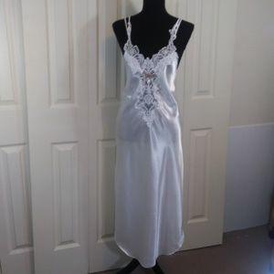 California Dynasty White Satin Nightgown